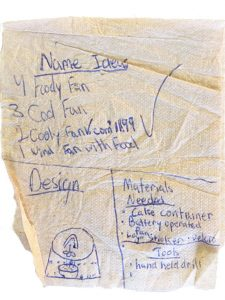 Cooly Fan - Concept Napkin